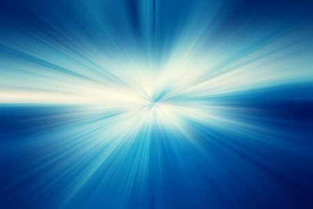 blue light: Radial abstract background