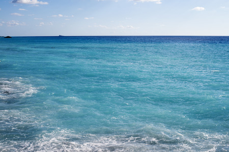 wide  wet: beach of the island of Lefkada in Greece, crystal clear beautiful blue water