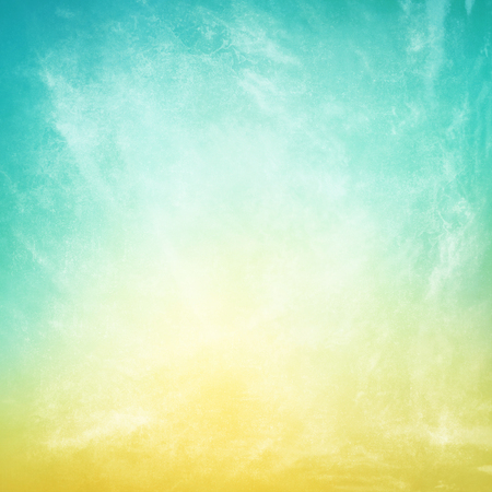 retro background: clouds on a textured vintage paper background Stock Photo