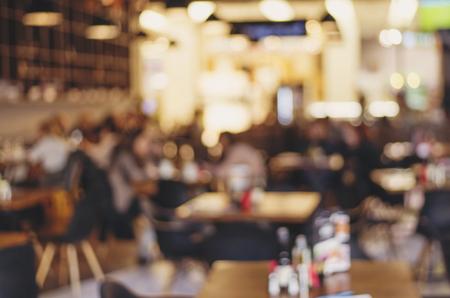 Blur restaurant - vintage effect style picture Archivio Fotografico