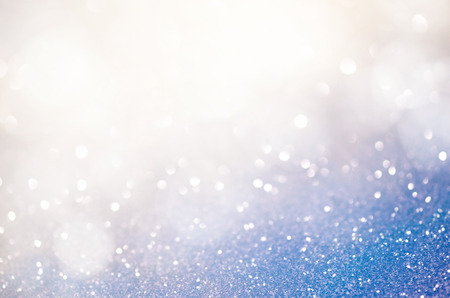 glitzy: Blue abstract bokeh background Stock Photo