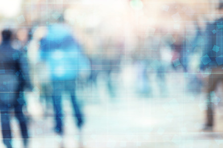 blur abstract people technology background
