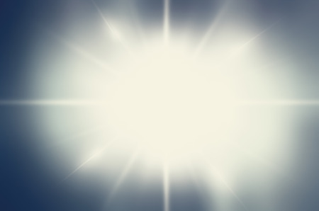 dark backgrounds: Abstract white rays over blue sky background.Blue color design with a burst