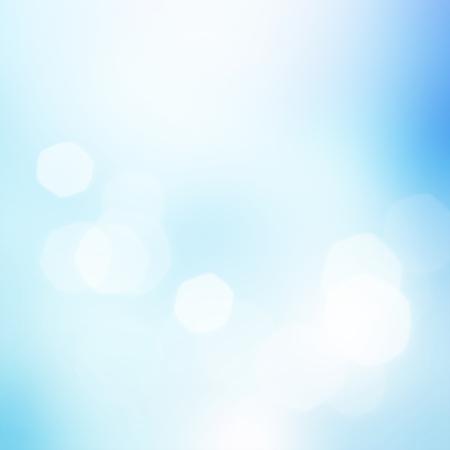 Abstract blue bokeh background Standard-Bild