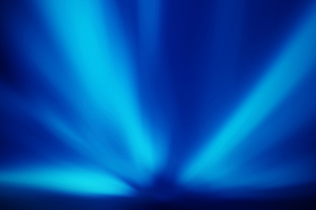 blue abstract background of light rays