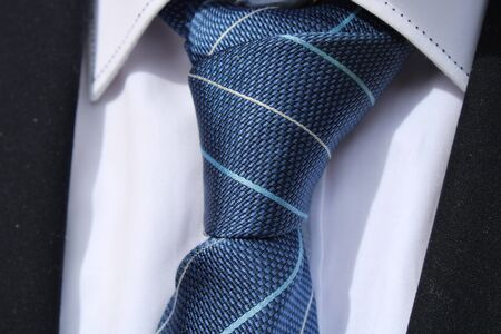 different tie knots with different shirts color Archivio Fotografico