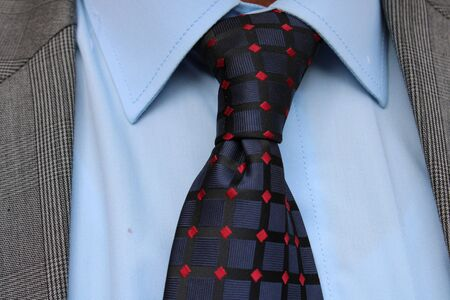 different tie knots with different shirts color