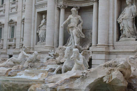 trevi fountain a famous landmark in rome italy
