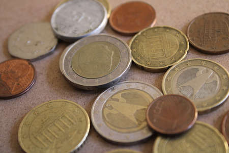 euro coins european union currency Banque d'images