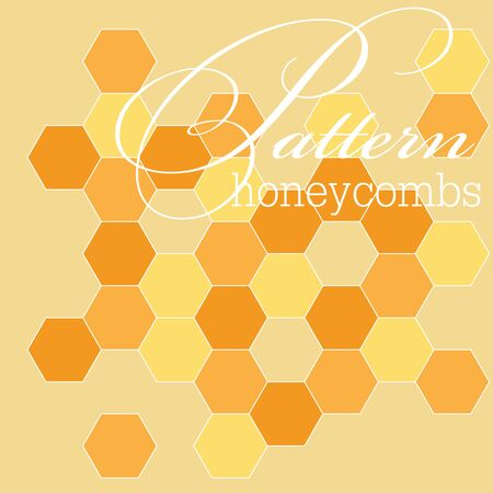 Pattern with honey cells, honey cells and honey