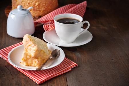 zest: Chiffon cake with orange zest icing.