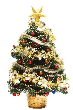 christmas tree isolated on white background Stockfoto