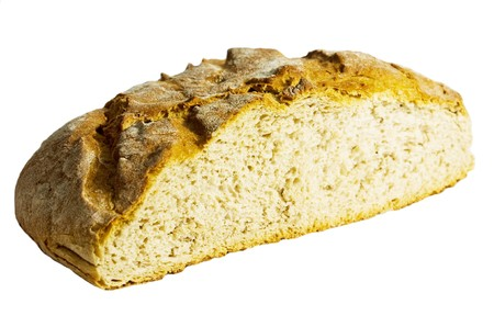 bread loaf isolated on white background photo