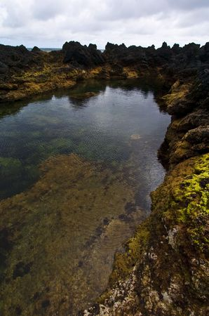 Natural sea water pool at Biscoitos in Azores