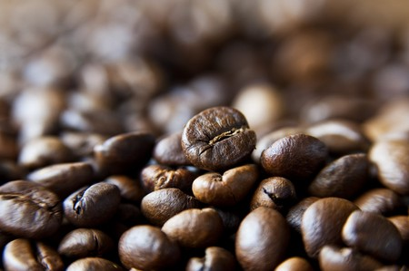 fragrant: A bed of delicious and fragrant coffee beans