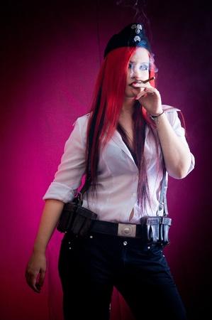 female dressed in uniform