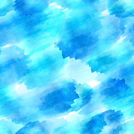 watercolour: Seamless vector watercolor pattern. Hand-drawn blue stains. Watercolour background.