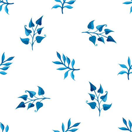 watercolour: Seamless watercolour pattern. Hand-drawn nature background. Vector illustration.