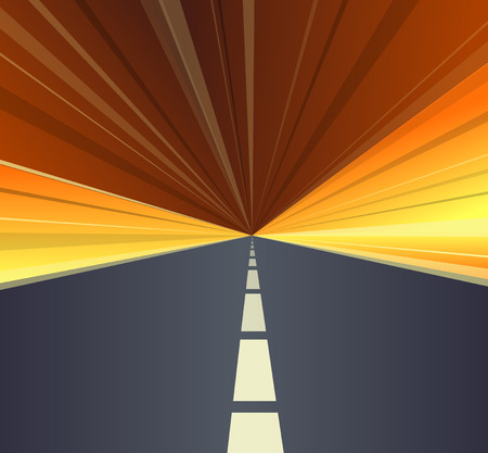 drive through: Vector illustration of highspeed highway.