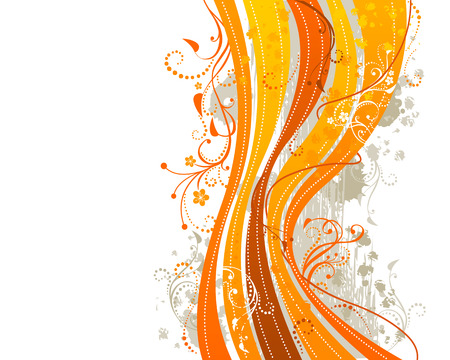 paint splat: Abstract background in yellow and orange colours.