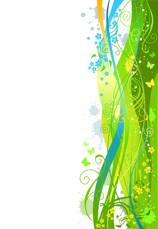 Abstract spring illustratiom. There is place for text on white area. Illustration