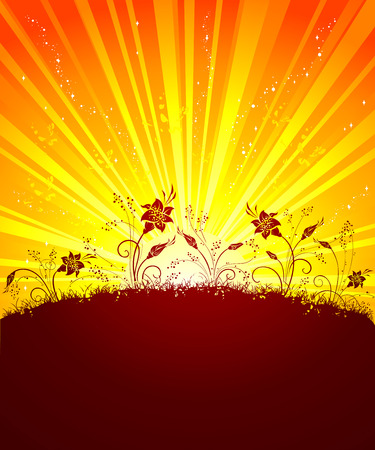 sunshine background: Sunshine background. There is place for text.