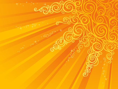 resizable: Sunshine background for your design. There is place for text. Illustration