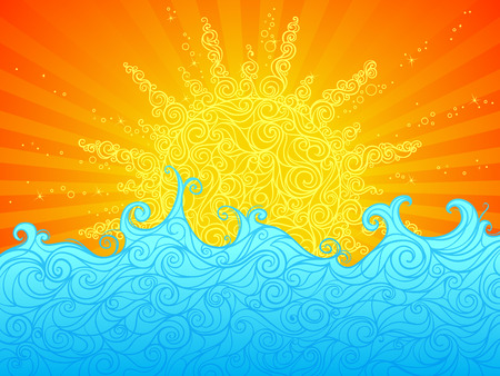 Abstract bright summer background. Illustration