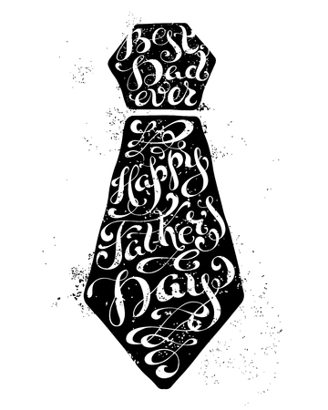 Best Dad Ever. Happy Fathers Day. Vector calligraphic inscription. Unique typography vector lettering isolated on white background.