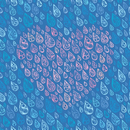 torrential: Love and rain. Heart of raindrops. Vector illustration.