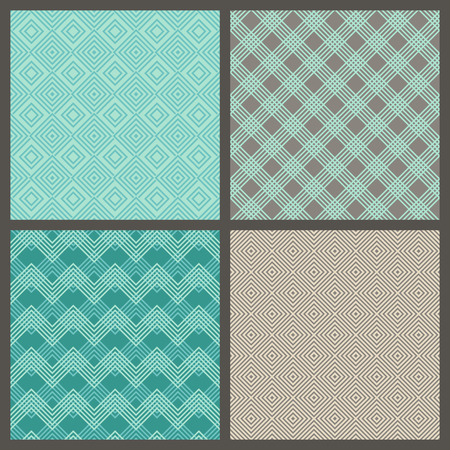 boundless: Vector set of seamless geometric patterns. Linear boundless backgrounds for your web page design  wallpapers pattern fills wrapping papers. All patterns are in swatches palette.
