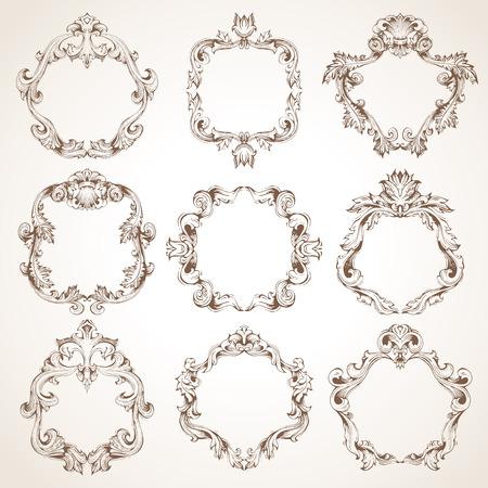 marcos redondos: conjunto de marcos vintage