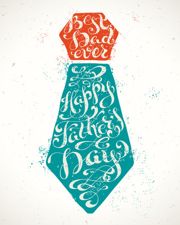 happy fathers day card: Best Dad Ever Illustration