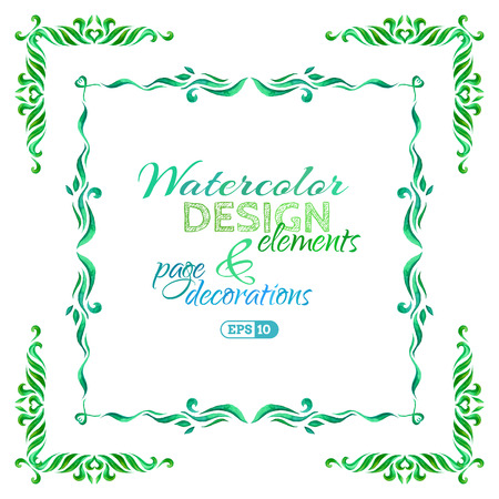 watercolour: Watercolour frames and page decorations