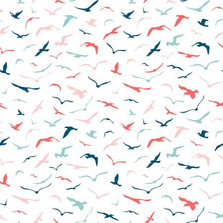 Seamless seagulls pattern