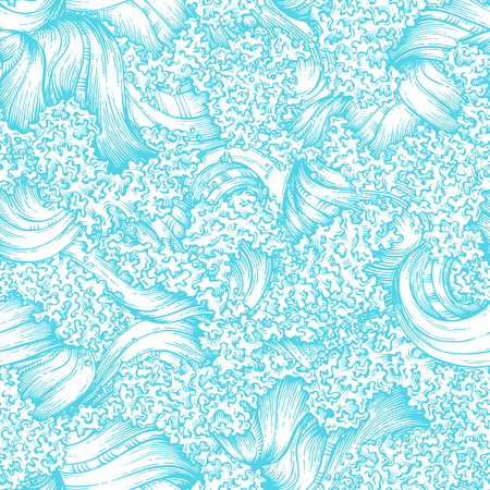 Seamless waves pattern Vettoriali