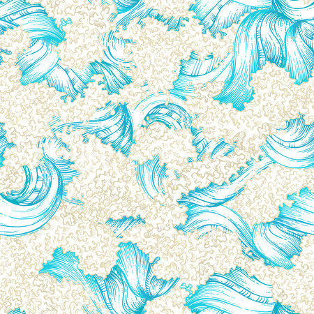 waves pattern: Seamless waves pattern Illustration