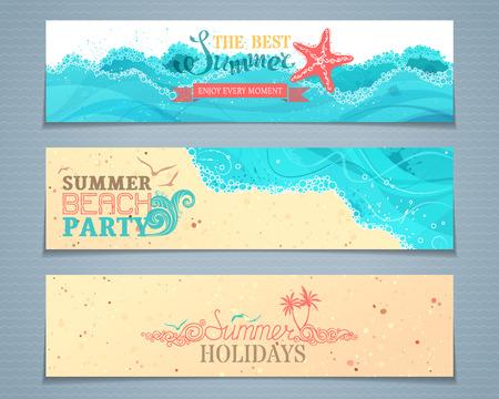 breakers: set of summer banners