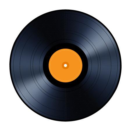 record: Vinyl record isolated on white background Illustration