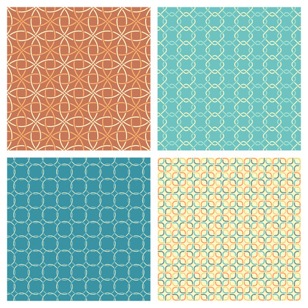 boundless: Vector set of seamless geometric patterns. All boundless textures are included in swatches palette.  Boundless backgrounds can be used for web page backgrounds, wallpapers, wrapping papers, invitation, congratulation or greeting cards.