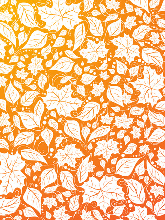 fall leaves border: Autumn background. Bright background with pattern of ornate leaves. Illustration