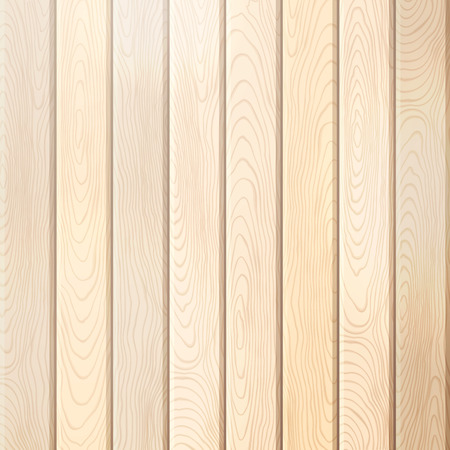 WOOD BACKGROUND: Pine wood plank background. Vector bright square background with vertical planks.