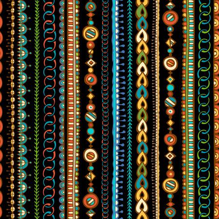 broderie: Tiré par la main-Seamless ethnique. griffonnages de texture illimitée