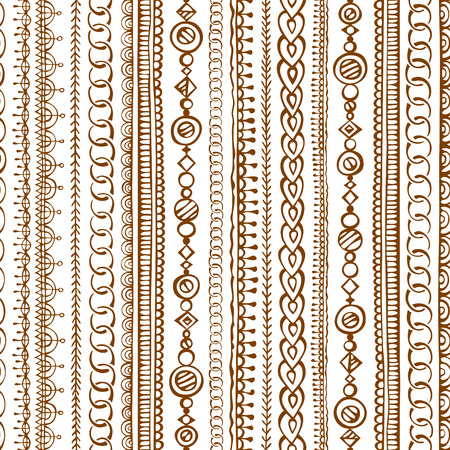 Seamless doodles ethnic pattern. hand-drawn boundless texture