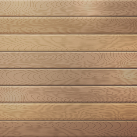 oak wood: Vector oak wood plank background. Square background with horizontal planks.
