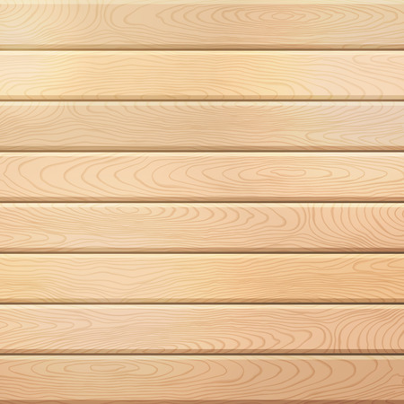 wood planks: Vector wood plank background. Light square background with horizontal planks.