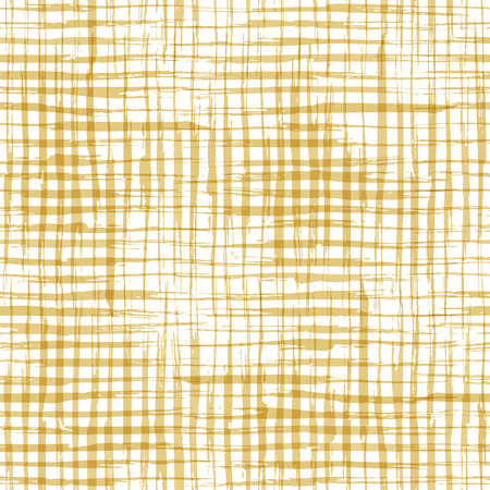 repeat texture: Vector seamless pattern of checkered brush strokes. Hand-drawn yellow brush flourishes on white background. Boundless background can be used for web page backgrounds, wallpapers and invitations.