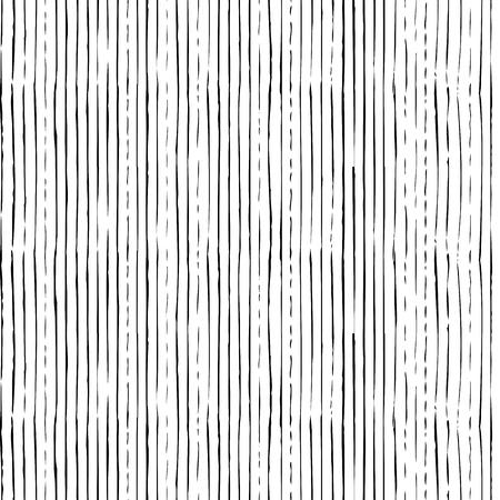 세로 얇은 브러시 획의 벡터 원활한 패턴입니다. 손으로 그린 검은 브러시 흰색 배경에 flourishes. 무한한 배경은 웹 페이지 배경, 바탕 화면 및 초대