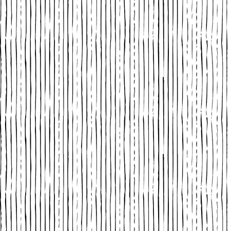 Vector seamless pattern of vertical thin brush strokes. Hand-drawn black brush flourishes on white background. Boundless background can be used for web page backgrounds, wallpapers and invitations.