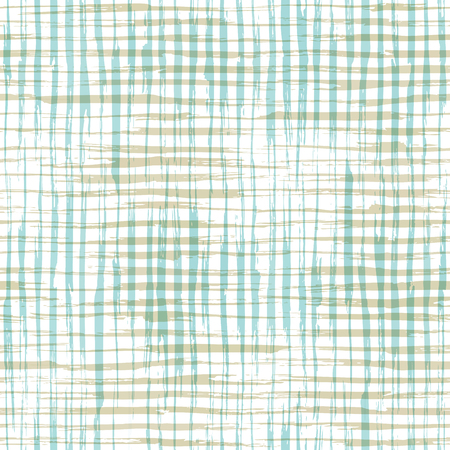 linen: Vector seamless pattern of checkered brush strokes. Hand-drawn brush flourishes on white background. Boundless background can be used for web page backgrounds, wallpapers and invitations. Illustration